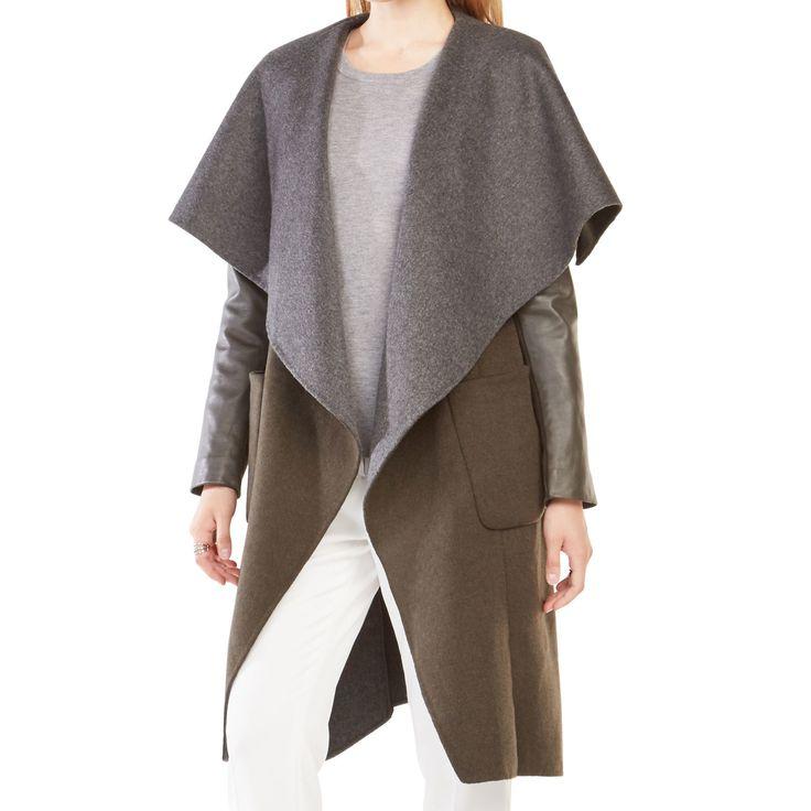 Bcbg Max Azria Vivienne Olive Wrap Coat