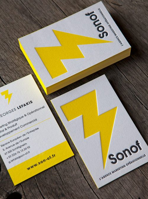 Best 25 letterpress business cards ideas on pinterest embossed cartes de visite impression jaune et noir sur papier coton letterpress business cards in black and yellow printed onto thick cotton paper reheart Image collections