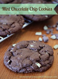 Chocolate  Mint Chip Cookies on MyRecipeMagic.com