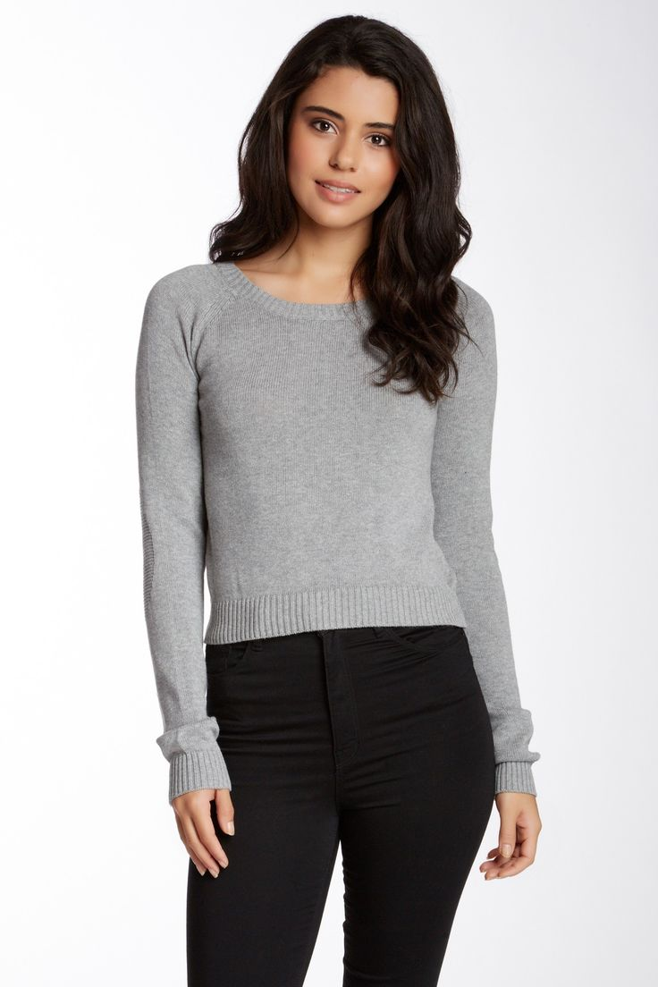 Abound Long Sleeve Cropped Sweater (Juniors) by Abound on @nordstrom_rack
