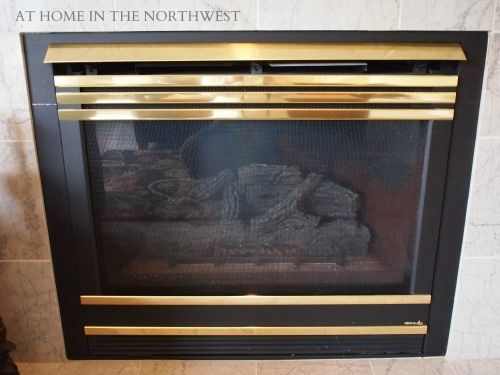 Five Bucks To Get Rid Of The Brass On A Gas Fireplace