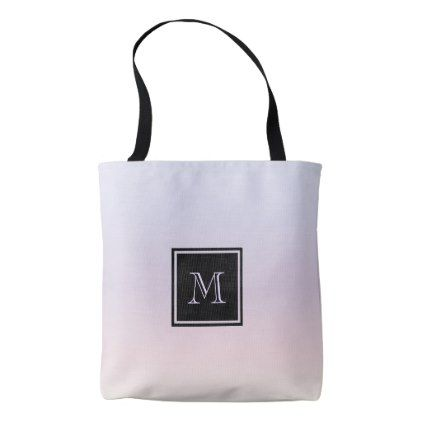 Pastel Gradient Monogram Tote Bag - accessories accessory gift idea stylish unique custom