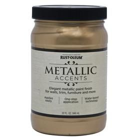 Rust Oleum American Accents Sterling Silver Gloss Metallic Latex Interior Paint