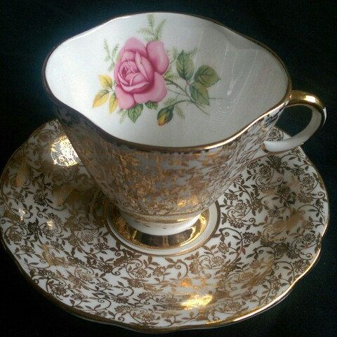 Editing, trying to bring justice to the beauty of this antique china tea cup.