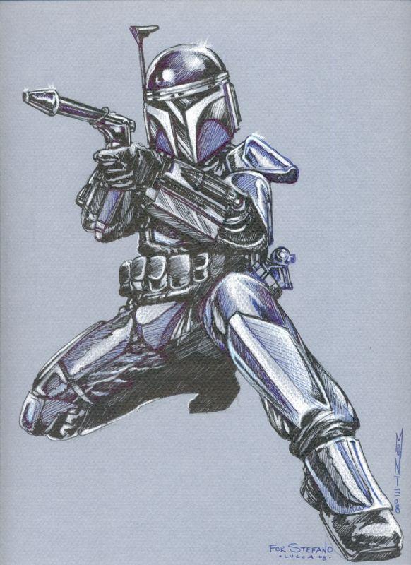 Star Wars - Jango Fett by Monte Moore