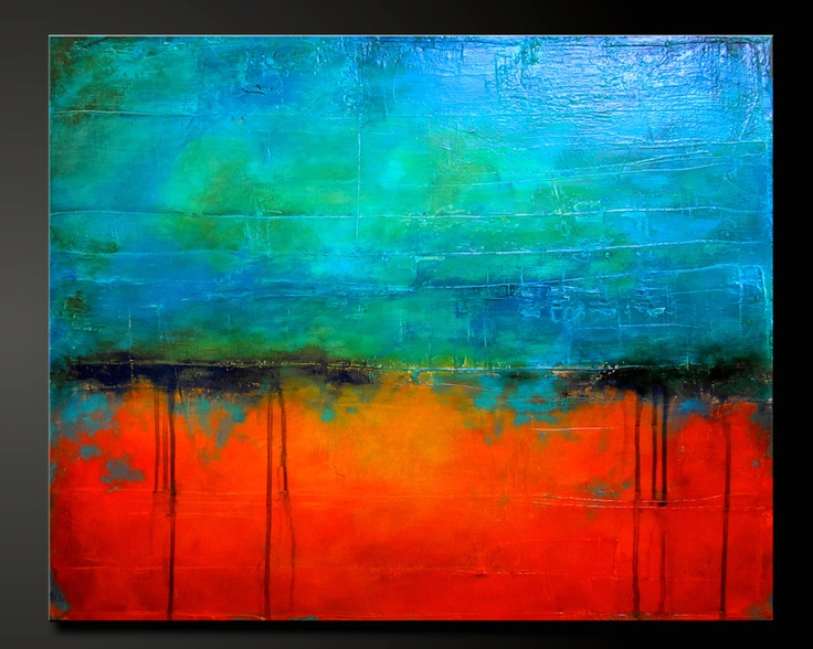 Abstract Painting Ideas Acrylic: Abstract Acrylic Contemporary Painting