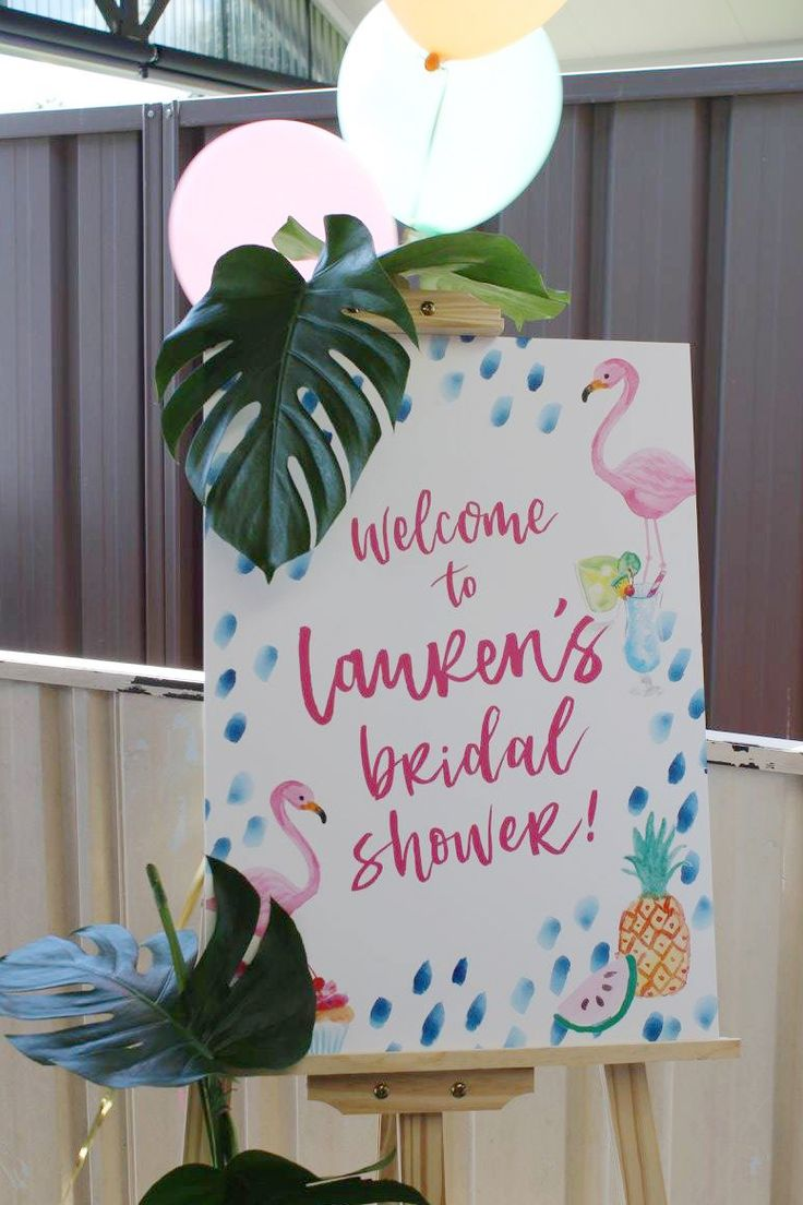 Last weekend we got to celebrate my best friend's Bridal Shower! Together  with the amazing Maid of Honour, we spent months planning the perfect  tropical party to send off Lauren into married life and it was pretty  perfect!  Party Photos / Danielle Morris Stationery Photos / Kaytie Rich Phot