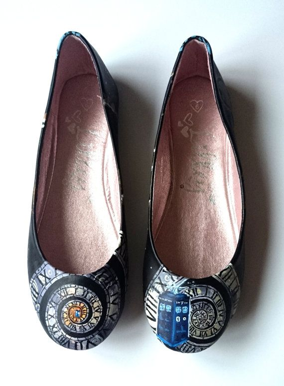 Doctor Who inspired Tardis ballerina pump shoes by arteclair