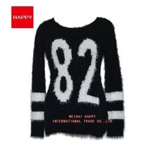 Acrylic New Style Women Knitwear Jacquard Sweater