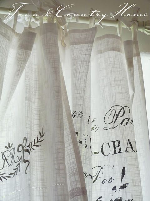 not sure i love the cheesecloth but the simple tie curtain might be an easy fix!