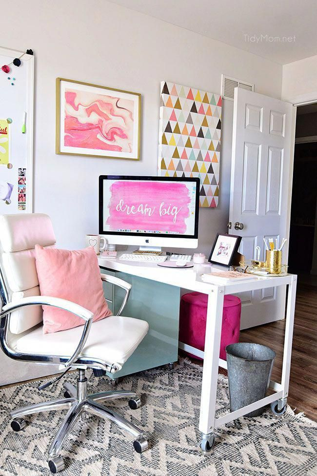 20 Inspirational Home Office Decor Ideas For 2019: Home Office Design For Small Spaces