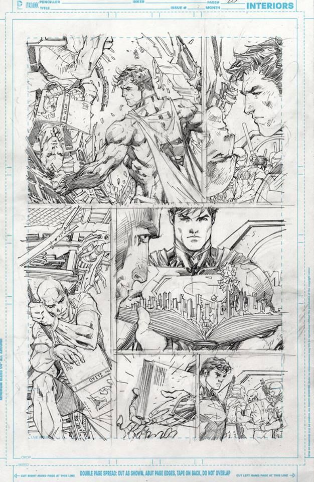 Superman Unchained pencils by Jim Lee. Jim Lee was such an inspiration to me as an artist growing up