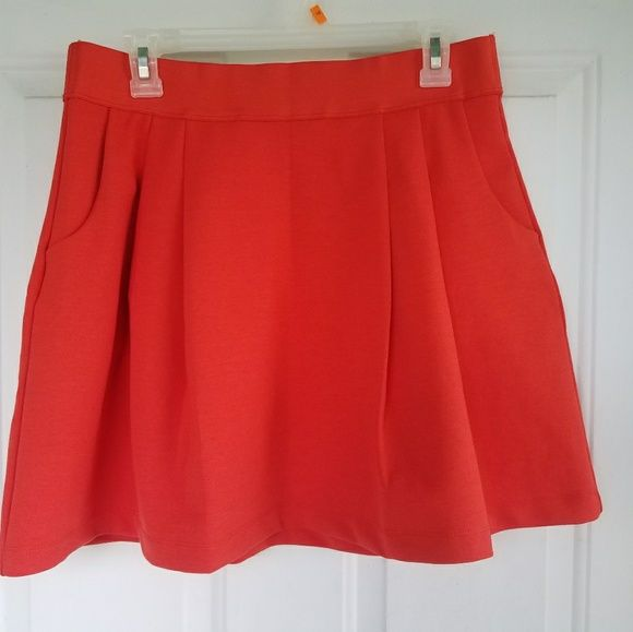 I just discovered this while shopping on Poshmark: Gap Orange Pleated Skirt. Check it out!  Size: M, listed by justnids