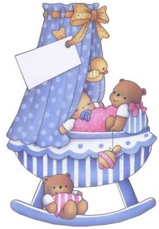 dibujos de bebes en la cuna