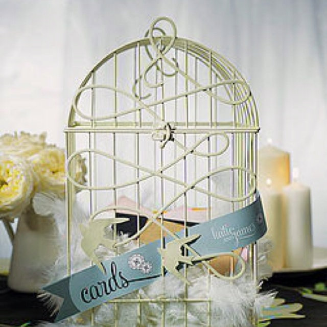 My birdcage to be filled with cards from family and friends.....
