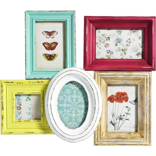 Multicoloured Combination Frame for Five Pictures (450 BRL) ❤ liked on Polyvore featuring home, home decor, frames, fillers, decor, casa, picture frames, borders, multi colored picture frames and colorful home decor