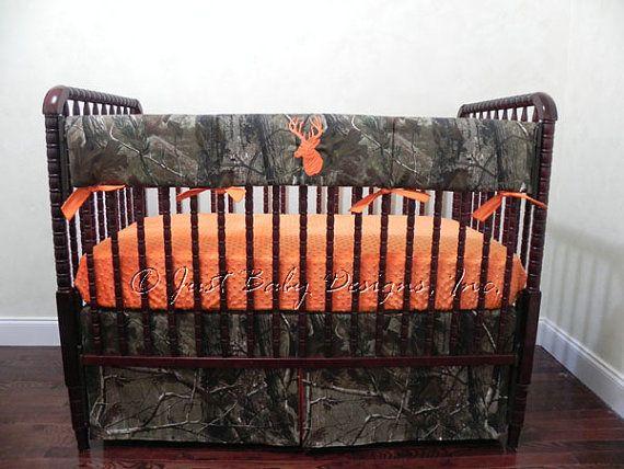 Camo Baby Bedding Set Trent Boy Baby Bedding by BabyBeddingbyJBD