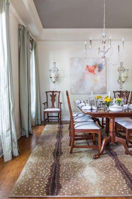 Antelope Print Rug Interior Design Case Study   Updating A Twenty Year Old  Decor   Designer