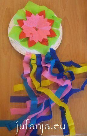 Vul 2 papieren bordjes met rijt en plak ze op elkaar. Versier hem daarna mooi. Leuk om daarna ook nog een spaans dansje uit te voeren.