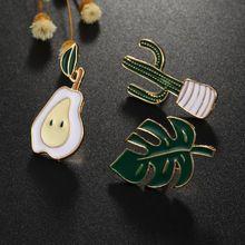 1 pc Harajuku Unisex Alloy Emalia Kaktus Gruszka Liści Broche Odznaki Klapie Bezpieczne Broszki Szalik Fajny Chłopak Dziewczyna Biżuteria Damska prezenty(China (Mainland))