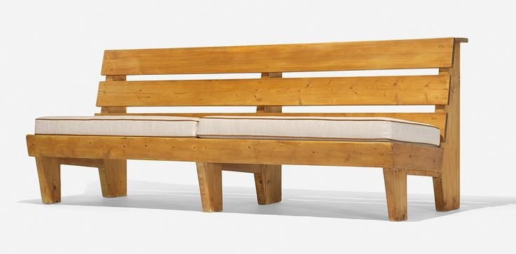 Bench from Marie Blanche Hotel, Méribel, France, c.1950