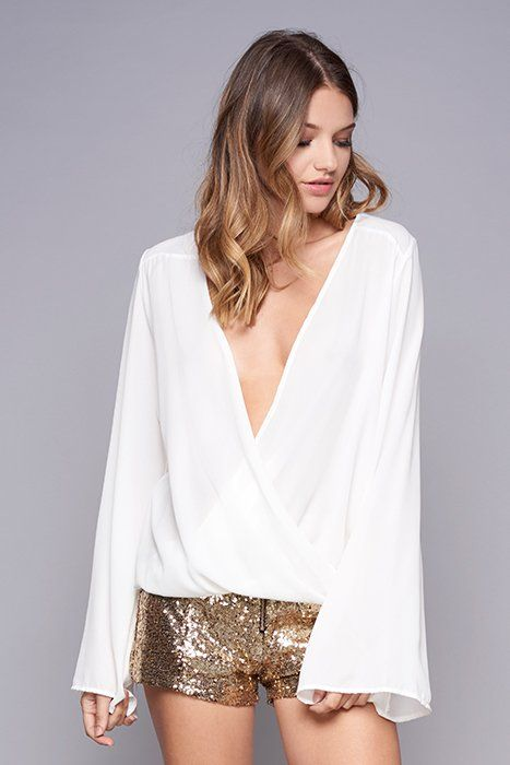 Infinity Gold Sequin Mini Shorts