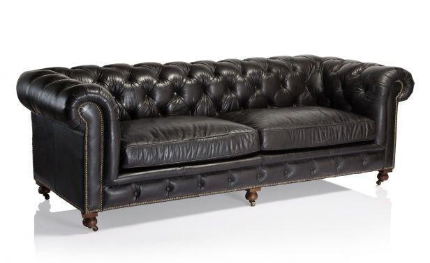 Coco Republic Kensington Sofa - Old Saddle Black