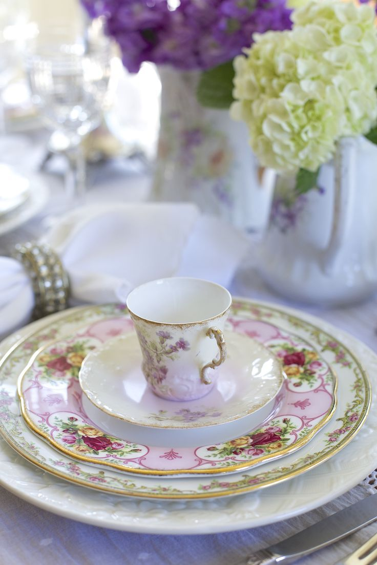 202 best Beautiful Place Settings images on Pinterest | Dishes ...