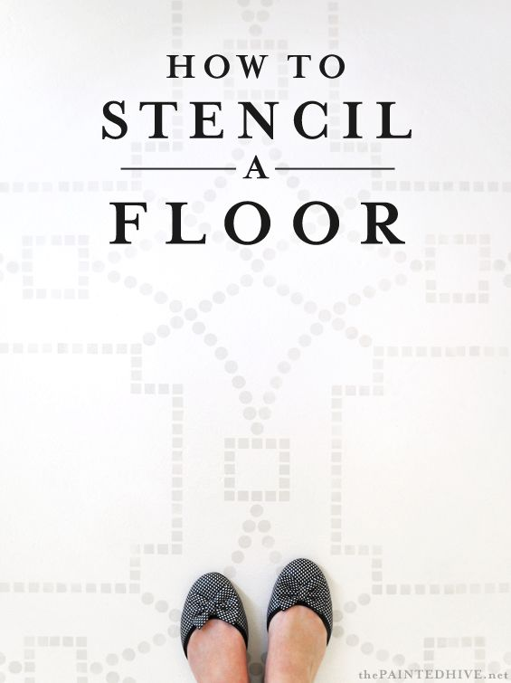 Painting Stenciling A Floor