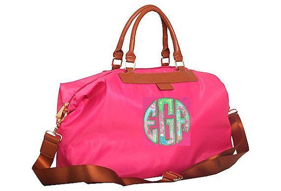 Lilly Pulitzer Monogrammed/Appliqued Weekender Bag