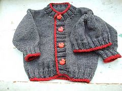Ravelry: The Basic Baby Cardigan pattern by Diana Jordan