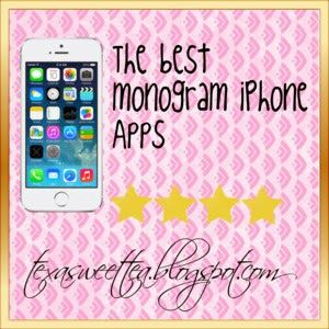 Sweet and southern: iPhone Monogram Wallpaper Apps