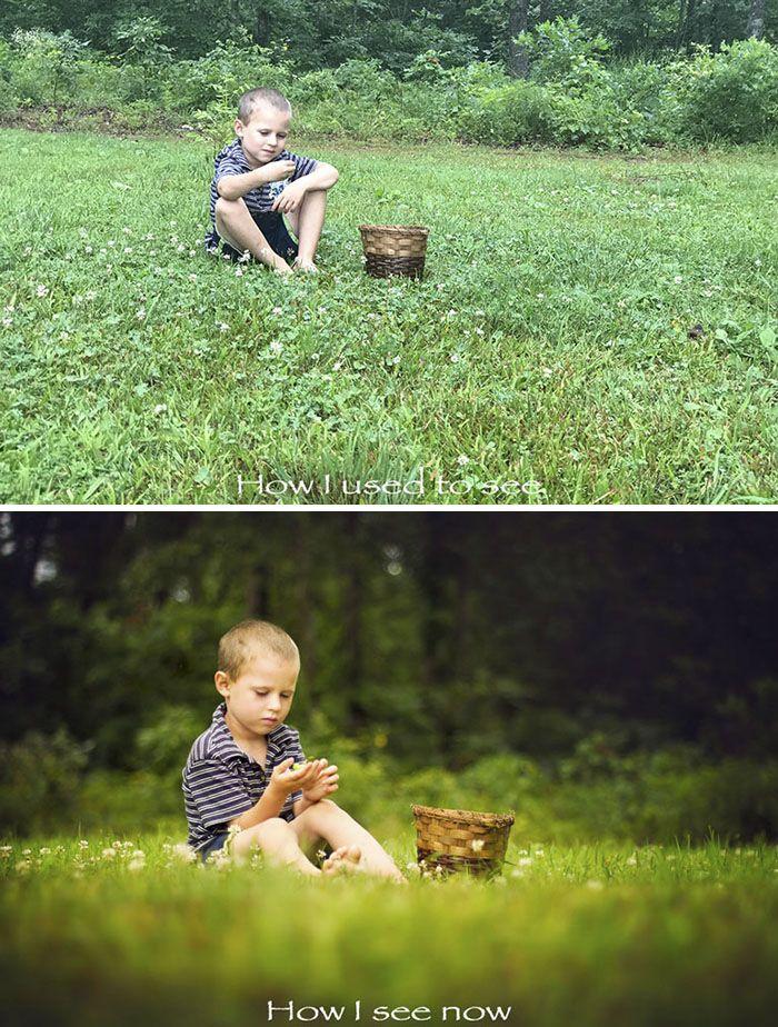 A képeket ugyanaz az ember készítette, hogy megmutassa, hogyan változott meg a látásmódja, mialatt kitanulta a fotózás csínját-bínját.