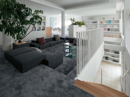 旭化成ヘーベルハウス「床の高さを変化させたリビング」