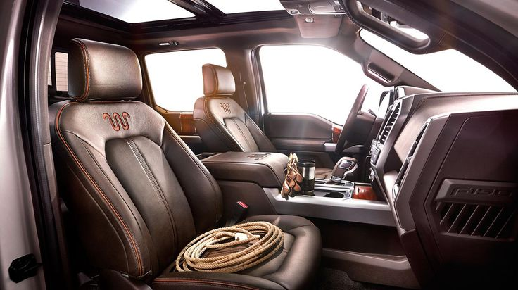 The New 2015 F-150 King Ranch Interior | Jimmy Granger Ford | Stonewall | Shreveport | Bossier City | Louisiana LA LSU Mardi Gras Cajun | visit our website at www.jimmygrangerf... and live chat with our internet specialists, tell them Maranda sent ya from Pinterest! |