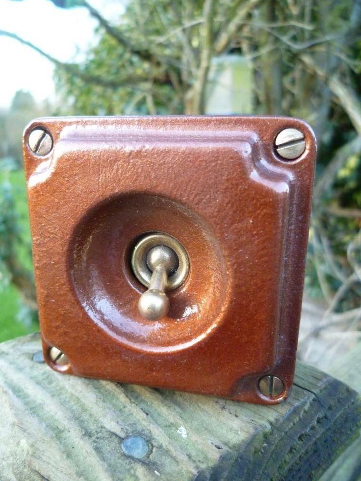 VINTAGE RETRO INDUSTRIAL 1930s BRITMAC 1 GANG LIGHT SWITCH STEAMPUNK (CRABTREE) | eBay