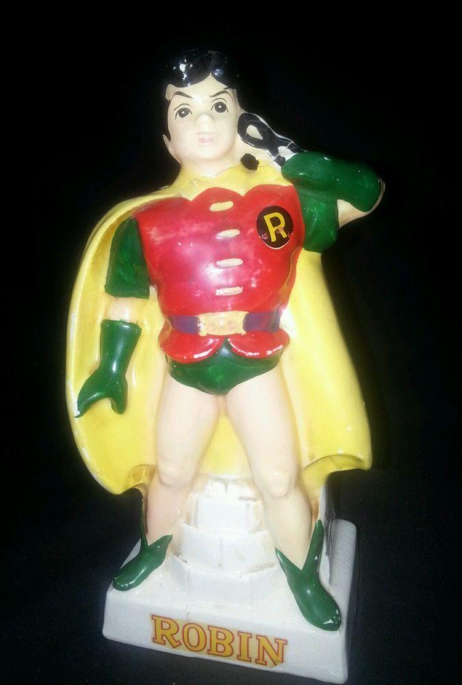 "Robin The Boy Wonder  RARE and ""Unmasked"" Bank Figurine 1966"