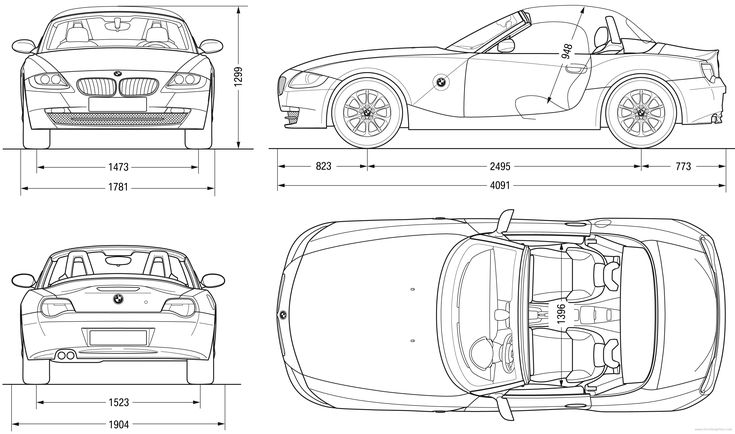 Lovely Car Blueprints With Dimensions Gallery - Simple Wiring ...