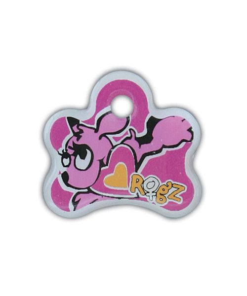ROGZ INSTANT ID TAG FOR PUPPIES - PINK. Available from Nuzzle.co.za