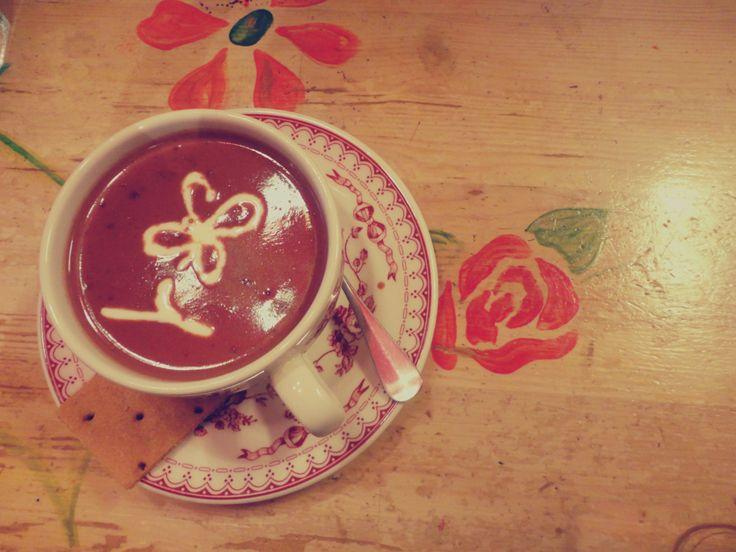 Hot chocolate <3 @ Petite Fleur,Athens