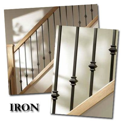 Metal Ballisters Modern | IRON Contemporary Stair Balusters Stylish Modern  Stair Balustrade