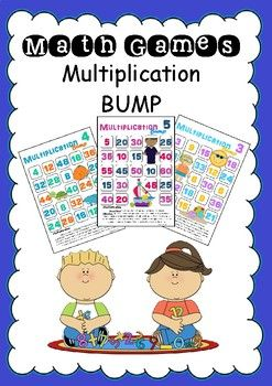 Multiplication Bump is a great math centre activity or fast finisher activity. It is a great way to practice math facts. Included are 11 game sheets, x2 through x12. Roll a 12 sided dice and multiply by the multiplication fact for the game board chosen..