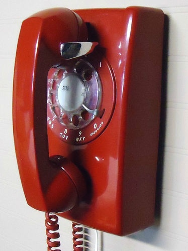 1970u0027s Vintage Western Electric Cherry Red Rotary Dial Telephone Wall Phone