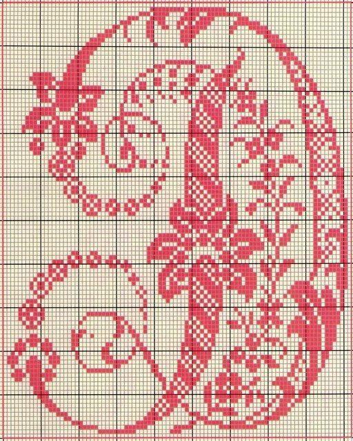 Les 27 meilleures images propos de monogrammes points de - Alphabet au point de croix grille gratuite ...