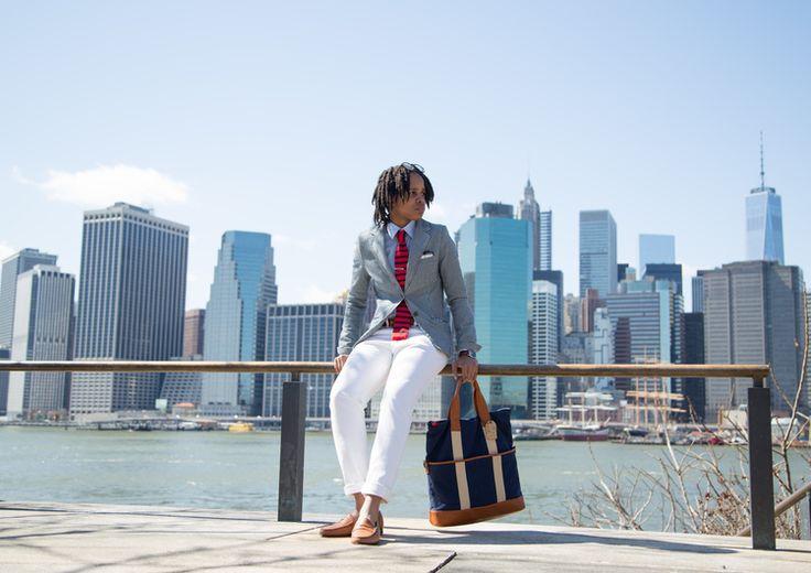 Lightweight fabrics in summer hues make for perfect summer business attire.