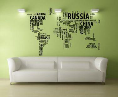 Sticker Harta lumii speciala de la 154 RON