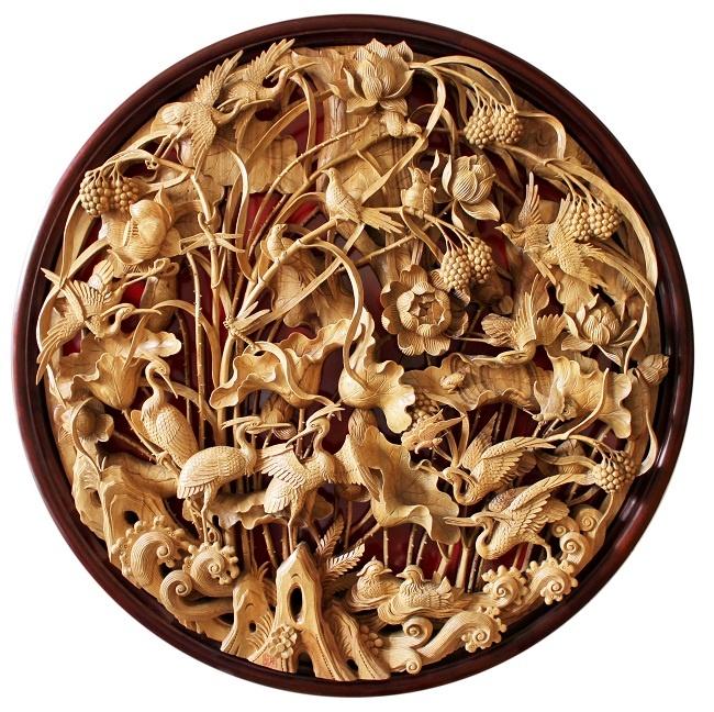 "Wood carving ""Lotus"""