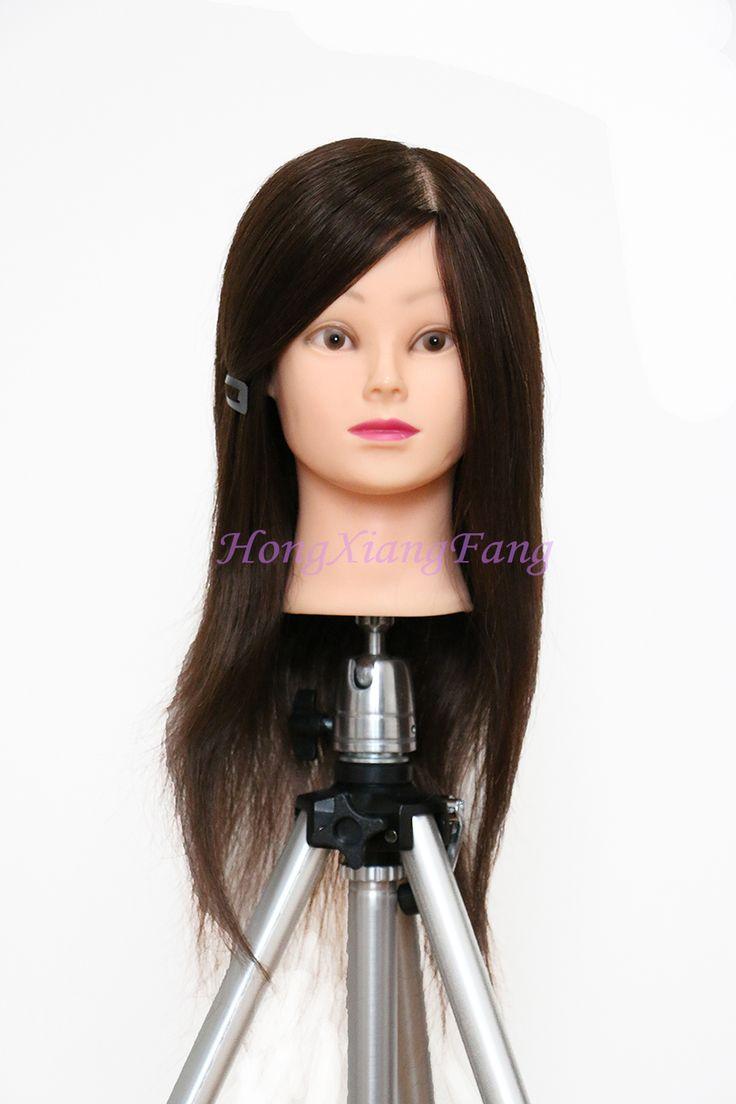 Профессиональная подготовка волосы на голове для скручиваемость прическа 18  натуральный черный 90% человеческих волос учебный манекен-головки с человеческих волос
