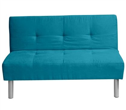 College Mini Futon- Teal, dorm room seating, lounging, blue room theme, blue bedding, cute room ideas