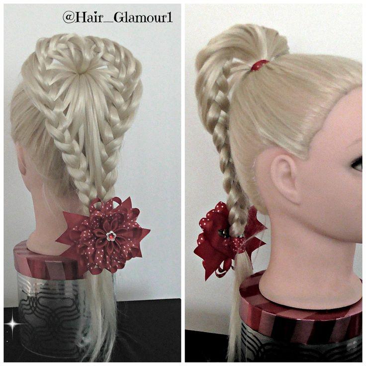 Love Heart Braid PonyTail / Hair Tutorial / HairGlamour / Hairstyles